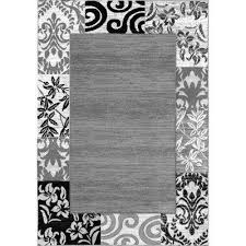 dulcet damask traditional ombre fl border brown 3 ft x 5 ft area rug
