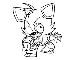 Fnaf Coloring Pages Foxy Coloring Sheets Pages Foxy And Mangle Cute