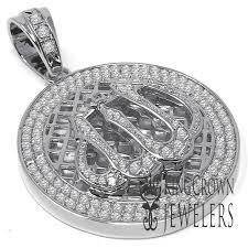 details about mens 14k white gold tone custom pendant muslim gold medallion lab diamond