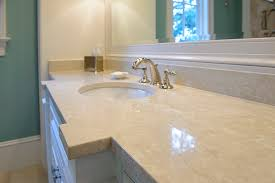 Marble Bathroom Sink Countertop Master Bath Vanity Botticino Fiorito Marble Countertops Eased
