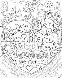 Small Picture Fruits of the Spirit coloring page by Carolyn Altman Galatians 5