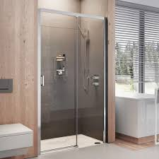 lumin8 level access sliding door shower enclosure