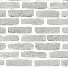Colours Grey Brick Effect Wallpaper