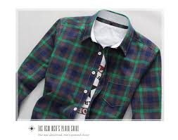 Long Sleeve Button Down Plaid Shirt Refer To Size Chart