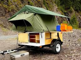 Diy travel trailer Tiny Explorer Box Camping Trailer Diy Compact Camping Trailer With Roof Top Tent Open Youtube The Diy Explorer Box Camping Trailer