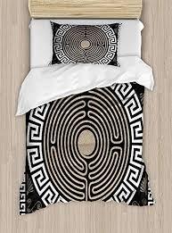 luxury 4 piece bedding set grecian fret
