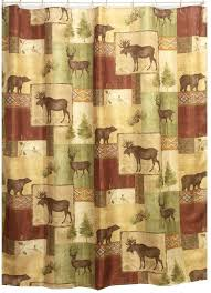 bacova guild mountain lodge fabric shower curtain mountain lodge is a heat transfer fabric print shower curtain on textured polyester