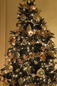 Black And Gold Christmas Tree Decoration Festival Collections