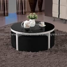 mini round coffee table with small sofa office furniture malaysia cheras petaling jaya ra 2a