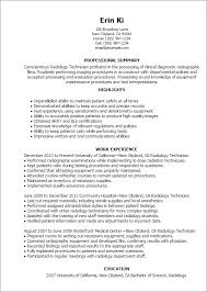 Resume Templates: Radiology Technician