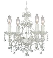 crystorama paris market 4 light clear crystal white mini chandelier