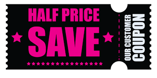 Coupon Clipart Free Download Black Friday Half Price Coupon Clipart Png Photo Toppng