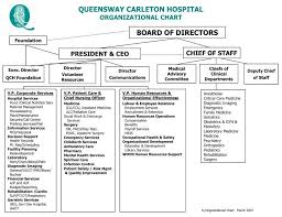 Clinic Organizational Chart Template Ppt Queensway Carleton Hospital Organizational Chart