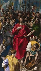 the disrobing of christ el espolio 1577 1579 oil on canvas 285 173 cm sacristy of the cathedral toledo is one of the most famous altarpieces of el