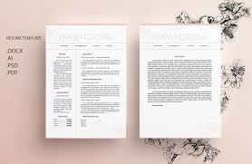 Marble Cv Resume Template M Resume Templates Creative Market