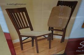 wooden folding chairs with padded seats. Modren Chairs Stakmore Solid Wood Folding Chair With Padded Seat Costco In Wooden Chairs With Seats E