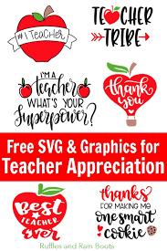 Teacher appreciation week is pretty amazing. Free Teacher Svg Files Appreciation Week And Back To School Ruffles And Rain Boots