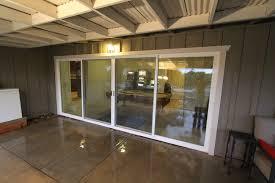 image of 4 panel sliding glass door hall