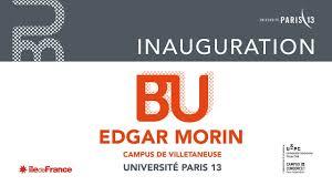 évènement Inauguration De La Bibliothèque Universitaire Edgar Morin