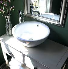 vessel sink without overflow sinks inch diameter bathroom with 2