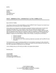 Reminder Letter Confidentialty Letter or Former Letter - Template ...