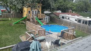 elegant diy inground pool slide