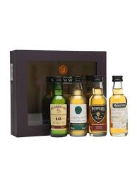 irish single pot still whiskey miniatures gift set 4x5cl