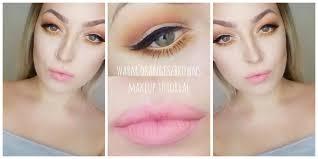 warm toned design inspiration eye makeup tutorial oranges browns geek eyeshadows