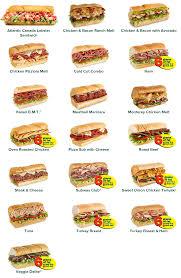 subway all sandwiches menu