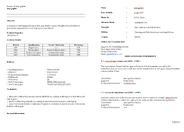 Simple Resume Format For Freshers Simple Resume Format Download