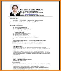 10 Example Of Resume For Fresh Graduate Of Education Inta Cf