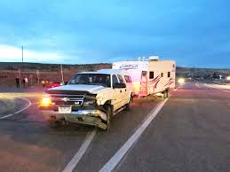 Truck towing camper collides with car Sunday in Craig ...