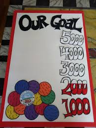 Fundraising Progress Chart Fundraising Goal Poster For A Mini Golf Tourney This Is A