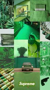 Light Green Aesthetic Wallpaper Background Collage Aesthetic Music Color