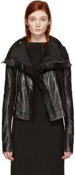 rick owens black classic biker jacket women rick owens ramones leather for