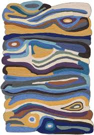 irregular shaped rugs felted wool weave modern abstract odd impressionist rug for uk
