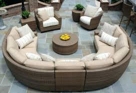 circular furniture. Outdoor Furniture Circular Couch Wicker Sectional Plans Patio Round