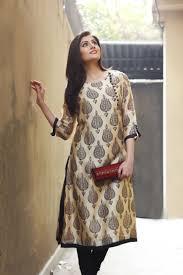 Pakistani Silk Kurtis Designs Printed Silk Kurta With Zardosi Clutch Kurta Designs Women