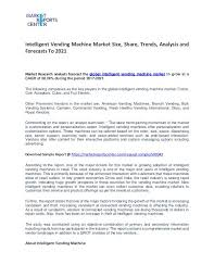 Vending Machine Research Paper Cool Intelligent Vending Machine Market Growth Trends Price And