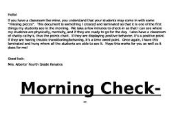 Fourth Grade Behavior Chart Morning Check In And Behavior Chart By Mrs Alberts Fourth