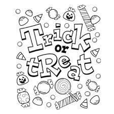 Halloween Coloring Pages Pdf Trick Or Treat Candy Freenfun Halloween