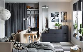 ikea furniture for small spaces. Anthracite NORDLI Chest Of 9-drawers Against A Back Wall In Small Living Space Ikea Furniture For Spaces G