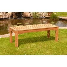 fsc certified 1 5m backless garden teak bench
