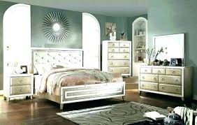 Mirrored Headboard Bedroom Set Furniture With Mirror King Size ...