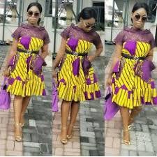 Model de robe pagne avec dentelle. Soldes Robe Tissu Pagne Avec Dentelle En Stock