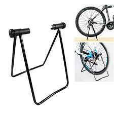 Bicycle Wheel Display Stand OUTERDO Bicycle Bike Triple Wheel Hub Folding Stand Kickstand 29
