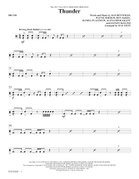 drums sheet music thunder drums sheet music direct
