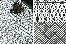 black and white vinyl floor tiles checd self stick