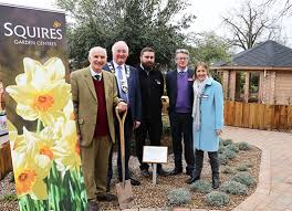squire s chairman deputy chairman and the mayor of runnymede councillor alan alderson officially opened the new squire s garden centre in chertsey on