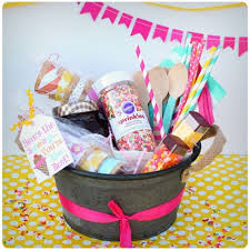 here s the scoop ice cream gift basket